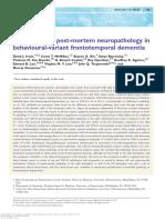 Asymmetry of Post-mortem Neuropathology In
