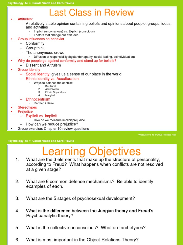 5 Common Defense Mechanisms technical 123.ppt   analytical psychology   id