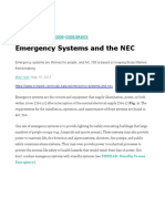 ECM-Emergency Systems and the NEC