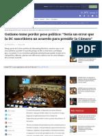 2018-03-09 Gutismo Teme Perder Peso Político. Sería Un Error Que La DC Suscribiera Un Acuerdo Para Presidir La Cámara