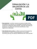 La Externalización y La Internalización de Los Costos