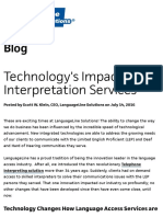 Technology's Impact on Interpretation Services
