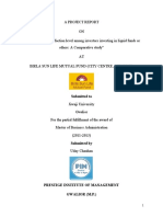 150826124 Final Project Report of Birla Sun Life Mutual Fund