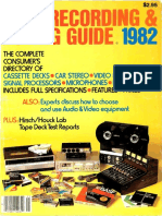 HiFi Stereo Review 1982 Tape Recording Guide