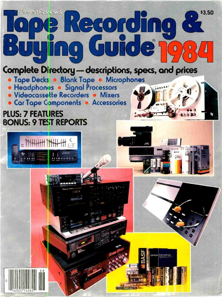 Info Pictures Articles Nakamichi RX-202 Cassette Brochure 6 pg 1984 Specs