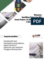 Spek Dan HPS Sesuai Perpres 16 Tahun 2018