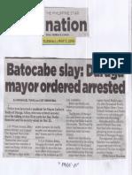 Philippine Star, May 7, 2019, Batocabe slay Daraga mayor ordered arrested.pdf