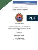 Analisis de Terreno- Analisis de Diseño - Casa en Mallorca - Alvaro Siza-PDF.2019