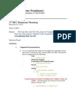 3rd BEC Business Meeting_Agenda