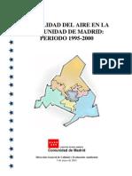 Calidad del aire Comunidad de Madrid 1995-2000