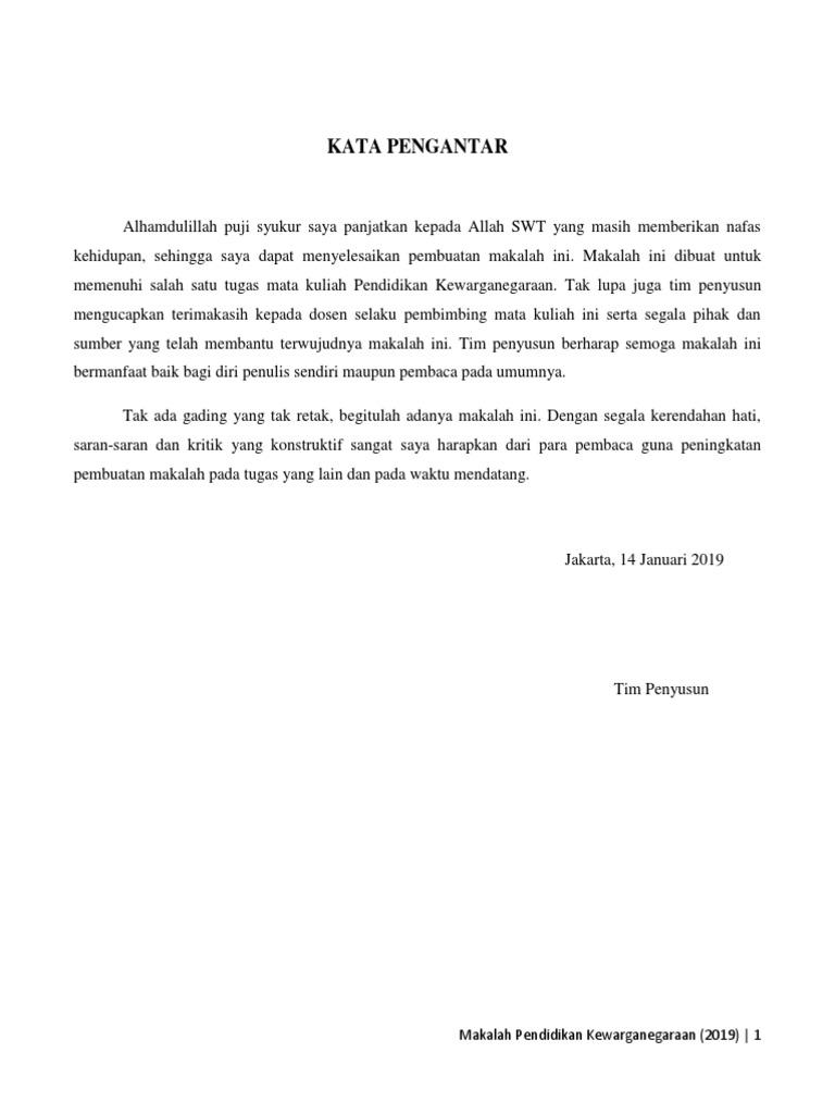 Tugas Pkn 9 1 19 Makalah Ketahanan Nasional Docx