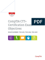 CTT Certification Objective