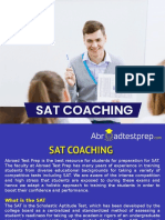 SAT Coaching and Exam Preparation – Abroad Test Prep.ppt