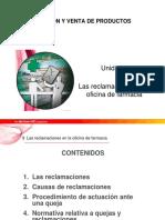 Tema 9 Disposicion y Venta Reclamaciones Oficina de Farmacia