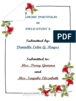 Academic portofolio
