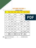 term date sheet term-ii  2019-120
