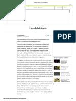 Uma Lei Ridícula - Jornal O Globo