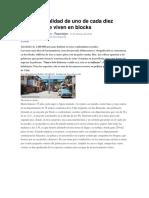La Cruda Realidad de Uno de Cada Diez Chilenos Que Viven en Blocks