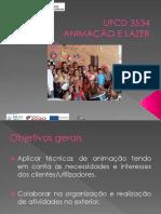 Ufcd3534 -  Animação e Lazer