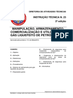 It 23 Manipulacao Armazenamento Comercializacao e Utilizacao de Gas Liquefeito de Petroleo