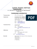 58th SEA Team Cship Tournament Information