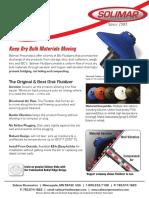 Solimar Fluidizer Data Sheet