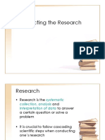 Business Research Methods _conducting Research