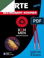 Carte Koh Men Prod 2019
