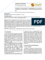 analysis of classroom practices