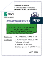 La value AT RISK d'un portefeuille d'actions marocaines.PDF