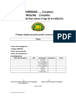 Formato de Perfil Completo Para Rellenar