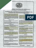 Resolución N° 160 Universidad Central de Venezuela