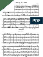 Badinerie. Suite No. 2 in B minor de J. S. Bach. para cuarteto de saxofones