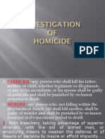 Investigation of Homicide