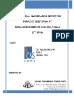 Final Soil Report of Shimla