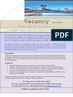 Vacancy Available Notice