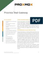 Proxmox Mail Gateway 5.0 Datasheet