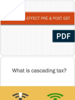 cascading effect pre and post gst