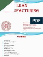 Presentation Lean Manufacturing