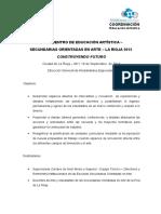 AGENDA 1 ENCUENTRO DE EDUCACIÓN ARTÍSTICA.doc