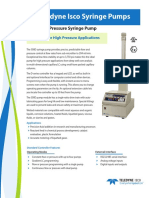 500D High Pressure Syringe Pump Datasheet