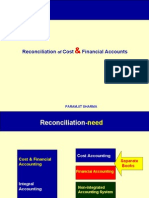 Reconciliation of Cost-Financial Costing