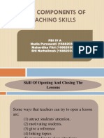 Eight Components of Teaching Skills