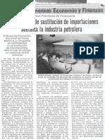194 Proyectos de Sustitucion de Importaciones Adelanta Industria Petrolera - El Universal 20.05.1988