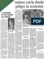 Edgard Romero Nava - Los Compromisos Con La Deuda Ponen en Peligro La Economia 1988