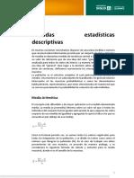 Medidas estadísticas descriptivas