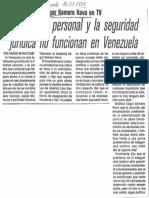 Edgard Romero Nava en TV La Libertad Personal y Seguridad Juridica No Funcionan en Venezuela - Diario El Mundo 21.07.1989