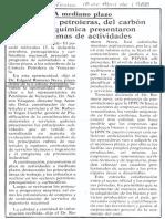 Industrias Petroleras, Del Carbon y Petroquimica Presentaron Programas de Actividades - Diario Critica 18.04.1988
