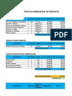 Calculo de Costo Para Fabricacion de Productos