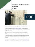 Bolsonaro Visita Muro Das Lamentações Ao Lado de Netanyahu_01Abr.2019
